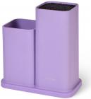 Подставка-колода Fissman Lilac для кухонных ножей и ножниц 20х10х23см двойная