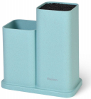 Подставка-колода Fissman Blue для кухонных ножей и ножниц 20х10х23см двойная
