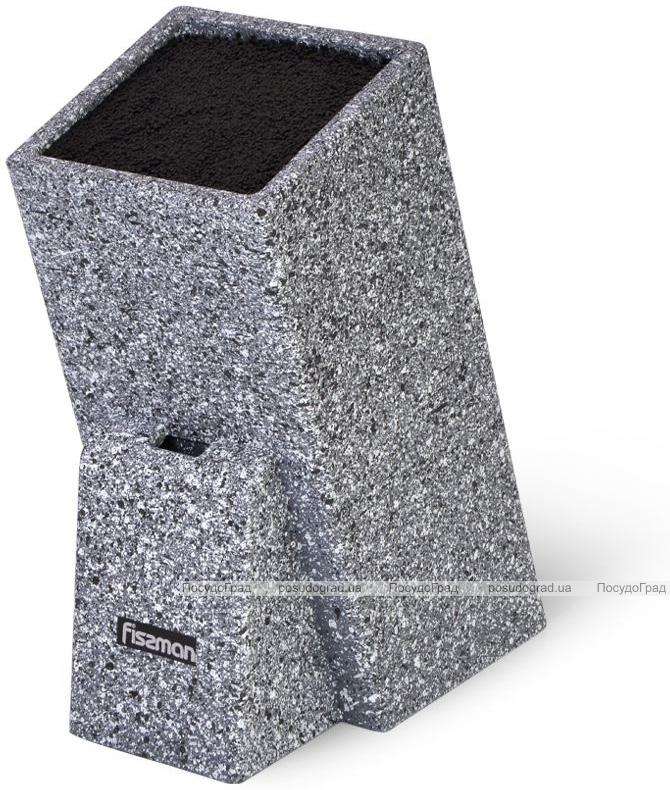 Подставка для кухонных ножей Fissman Graphite 26х11см, с секцией для ножниц