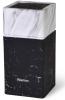 Колода-подставка для ножей Fissman Marble 11х23см, пластик черно-белый