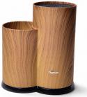 Підставка-колода Fissman Wood для кухонних ножів і ножиць 23х11х11см, подвійна