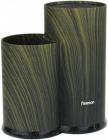 Подставка-колода Fissman Dark Green для кухонных ножей и ножниц 23х11х11см, двойная