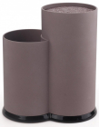 Подставка-колода Fissman Double для кухонных ножей и ножниц 22х11х17см двойная