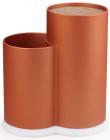 Підставка-колода Fissman Orange для кухонних ножів і ножиць 22х11х17см подвійна
