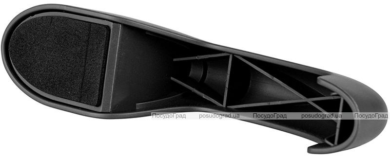Точилка Fissman Black 19.5x4.5x6см для ножей двухшаговой заточки, черный