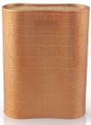 Подставка-колода Fissman Gold для кухонных ножей и ножниц 17х7х22см овальная