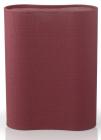 Подставка-колода Fissman Red для кухонных ножей и ножниц 17х7х22см овальная