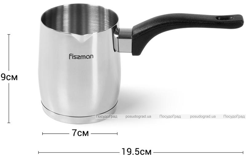 Турка Fissman Amore 360мл з нержавіючої сталі, індукційна