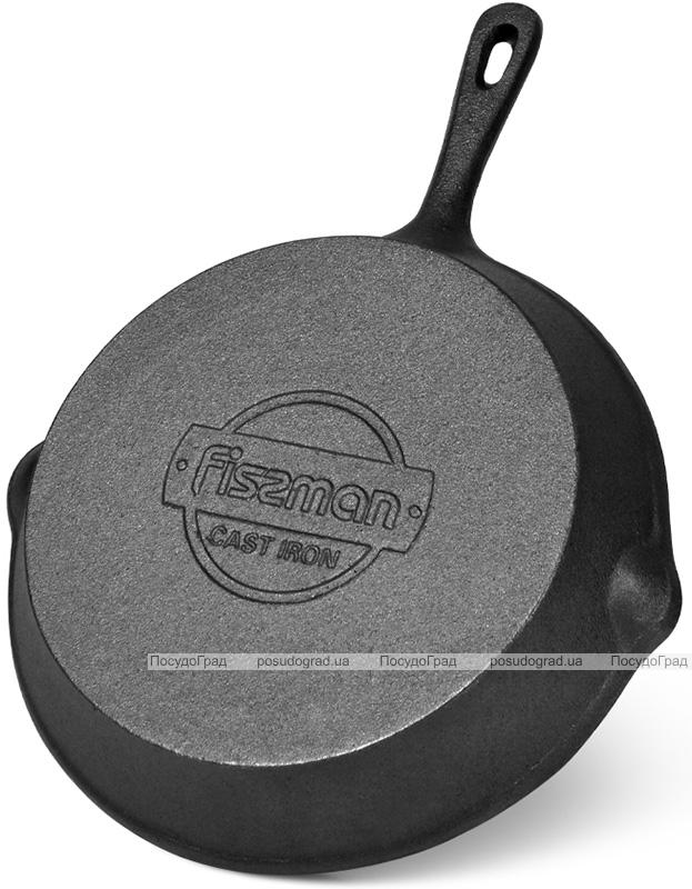 Сковорода-гриль Fissman Naestved круглая 26х5см, чугун