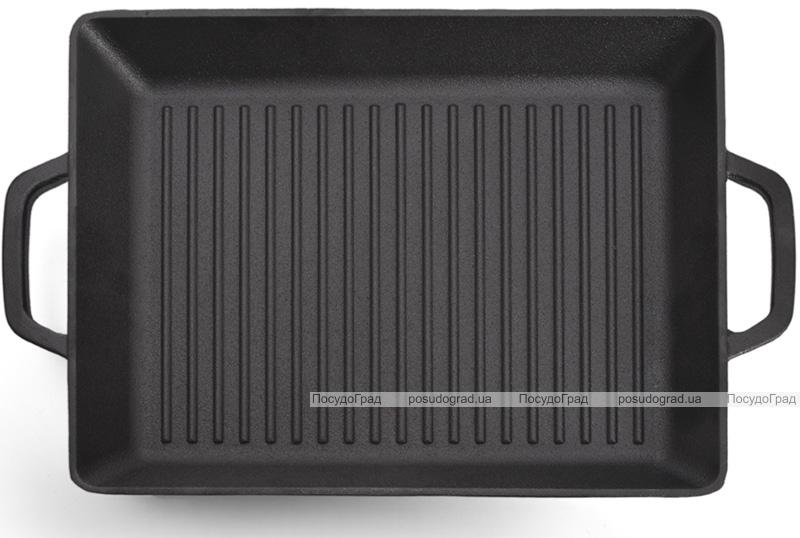 Сковорода-гриль чавунна Fissman Naestved 32.5х27х4см з литими ручками