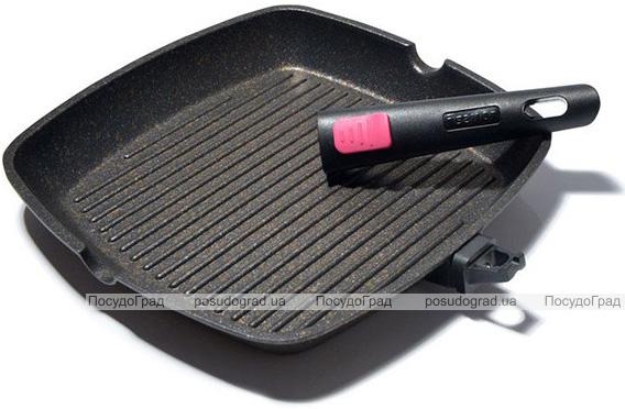 Сковорода-гриль Fissman Rebusto 28х28х4.3см зі знімною ручкою
