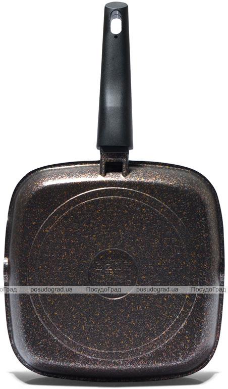 Сковорода-гриль Fissman Rebusto 28х28х4.3см со съемной ручкой