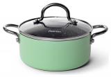 Кастрюля Fissman Mini Chef Green 1.3л с антипригарным покрытием