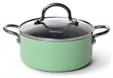 Каструля Fissman Mini Chef Green 1.3л з антипригарним покриттям