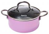 Кастрюля Fissman Mini Chef Pink 1.3л с антипригарным покрытием