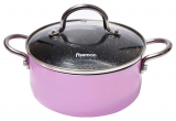 Каструля Fissman Mini Chef Pink 1.3л з антипригарним покриттям