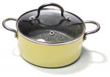 Кастрюля Fissman Mini Chef Yellow 1.3л с антипригарным покрытием