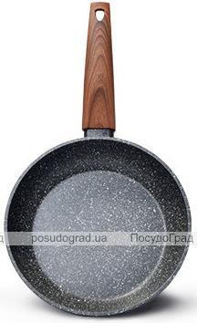 Сковорода Fissman Vesuvio Stone Ø24см с антипригарным покрытием Platinum