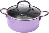 Кастрюля Fissman Mini Chef Purple 1.8л с антипригарным покрытием
