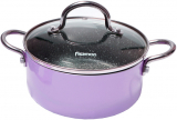 Каструля Fissman Mini Chef Purple 1.8л з антипригарним покриттям