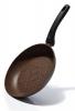 Сковорода Fissman Fuego Stone Chocolate Ø24см с антипригарным покрытием Platinum (каменная крошка)