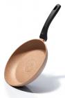 Сковорода Fissman Fuego Stone Pink Ø24см с антипригарным покрытием Platinum (каменная крошка)