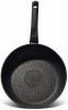 Сковорода Fissman Fuego Stone Black Ø24см с антипригарным покрытием Platinum (каменная крошка)