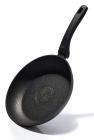Сковорода Fissman Fuego Stone Black Ø24см з антипригарним покриттям Platinum (кам'яна крихта)