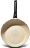 Сковорода Fissman Fuego Stone Cream Ø24см з антипригарним покриттям Platinum (кам'яна крихта)