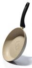 Сковорода Fissman Fuego Stone Cream Ø24см с антипригарным покрытием Platinum (каменная крошка)