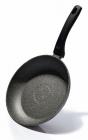 Сковорода Fissman Fuego Stone Grey Ø24см с антипригарным покрытием Platinum (каменная крошка)