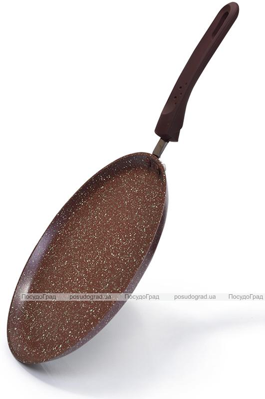 Сковорода блинная Fissman Mosses Stone Ø20см с антипригарным покрытием