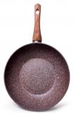 Сковорода-вок Fissman Magic Brown Ø24см з антипригарним покриттям