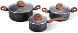 Набор кухонной посуды Fissman Black Cosmic 6 предметов