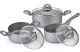 Набор кухонной посуды Fissman MOON STONE 2 кастрюли и ковшик с крышками