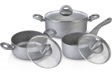Набір кухонного посуду Fissman MOON STONE 2 каструлі і ковшик з кришками