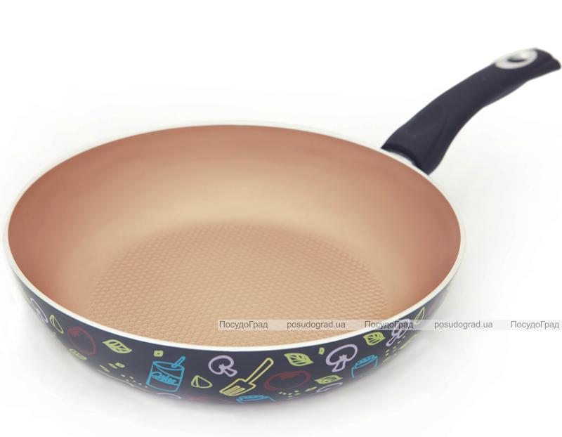 Сковорода-сотейник Fissman Colored Motifs Ø28см с керамическим антипригарным покрытием
