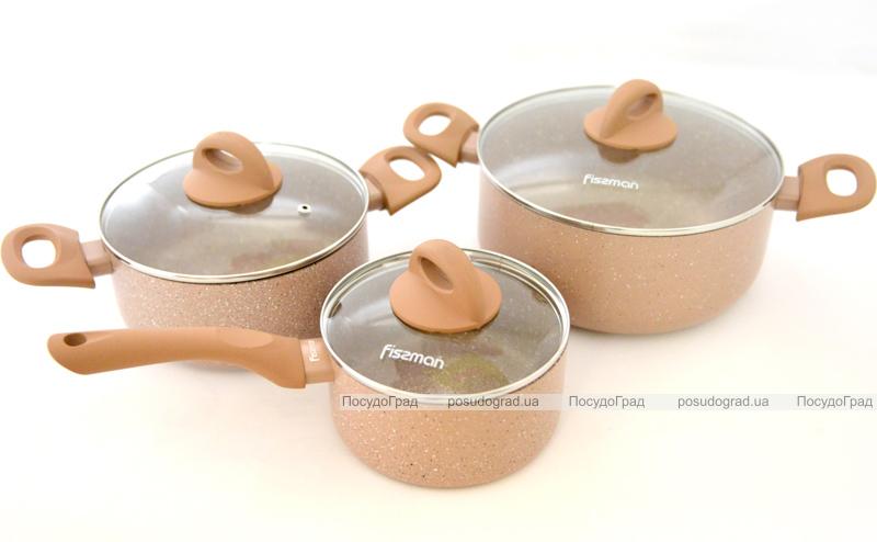 Набор кухонной посуды Fissman LATTE 2 кастрюли и ковш с крышками