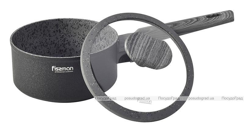 Ковш Fissman Charm Stone 1.4л со стеклянной крышкой, антипригарное покрытие