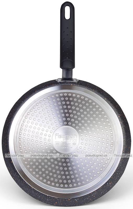 Сковорода блинная Fissman Spark Stone Ø24см с антипригарным покрытием TouchStone (каменная крошка)
