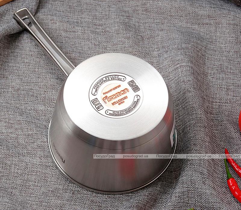 Ківш Fissman Millenium 1.5л з нержавіючої сталі з кришкою