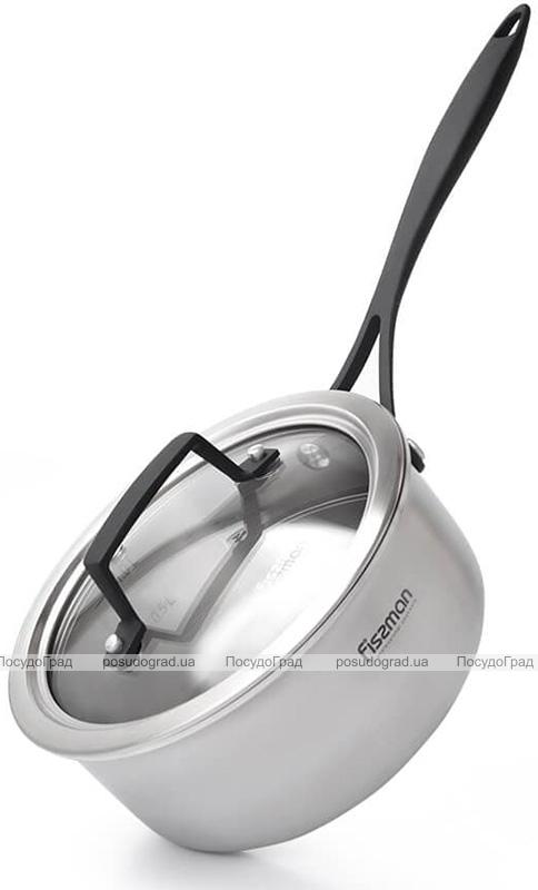 Ковш Fissman Loren 1.4л из нержавеющей стали с термостойким покрытием на ручках
