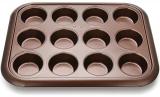 Форма для кексів і маффінів Fissman Chocolate 38x30x3.5см, 12 осередків