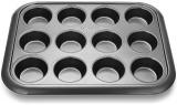 Форма для кексов и маффинов Fissman Gingerbread 38x30x3.5см, 12 ячеек