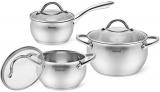 Набір кухонного посуду Fissman Nancy 6 предметів, з нержавіючої сталі