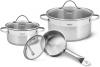 Набор кухонной посуды Fissman Evita 6 предметов, из нержавеющей стали