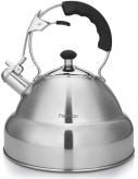 Чайник Fissman Alba 4.5л з нержавіючої сталі зі свистком