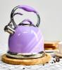 Чайник Fissman Felicity 2.6л из нержавеющей стали, со свистком, сиреневый