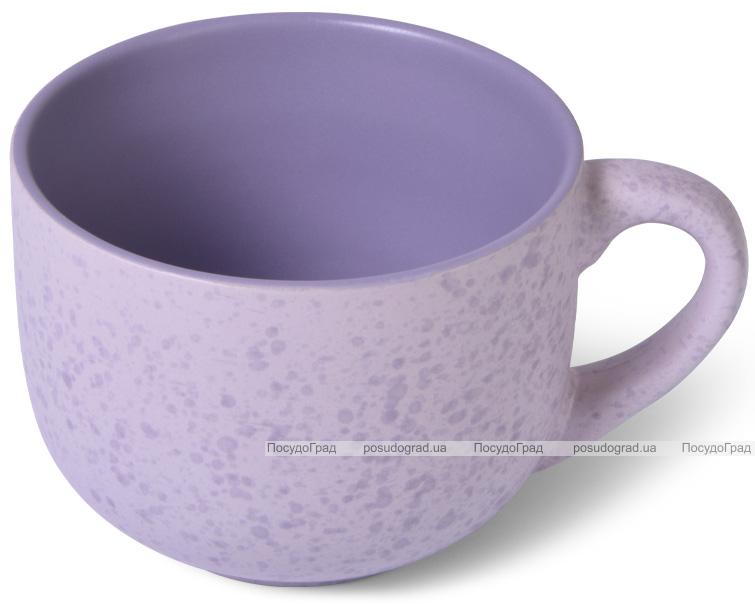 Кружка керамическая Fissman Silis 450мл, сиреневая