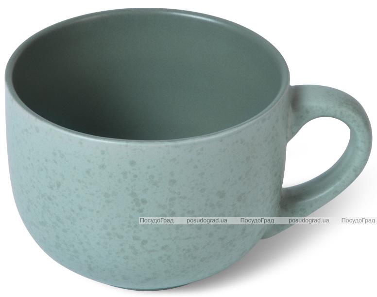 Кружка керамічна Fissman Silis 450мл, бірюзова